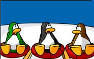 Three Penguins Three inner tubes