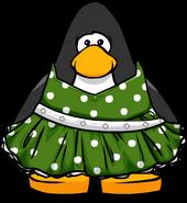 Green Polka-Dot Dress on Player Card