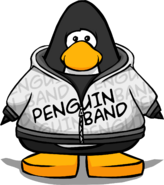 Penguin Band Hoodie from a Player Card