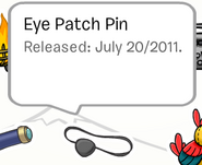 Eye Patch Pin in the Stampbook