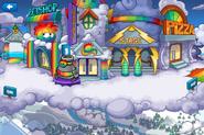 Rainbow Puffle Party Plaza