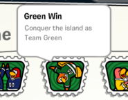 Green win stamp book