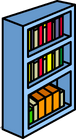 Blue Bookshelf sprite 010