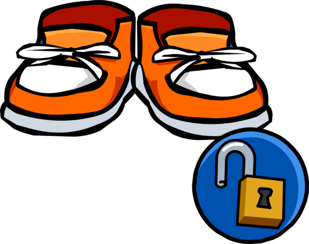 File:Orange Sneakers Icon 10387.png