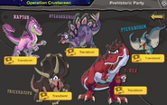 Prehistoric Party 2016 interface transformations