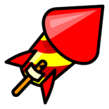 Firework Rocket Pin