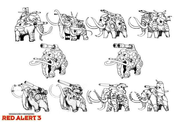 File:RA3 Mammoth Concept Variations.jpg