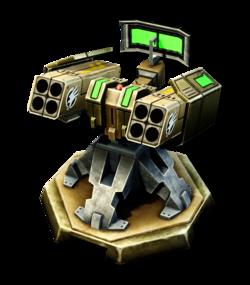 CNC4 Missile Turret Render