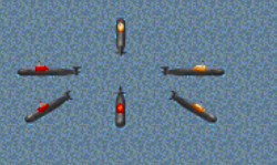 RA Submarines In-game