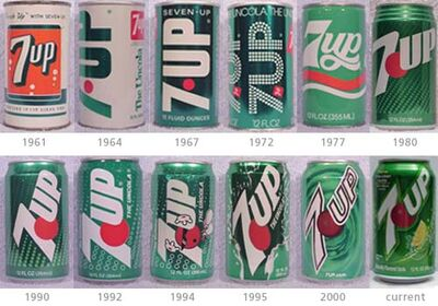 7up through the years