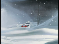 Cold War Thomas's car is covered in snow image 1