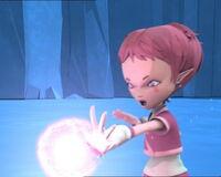 XANA Aelita fires energy field