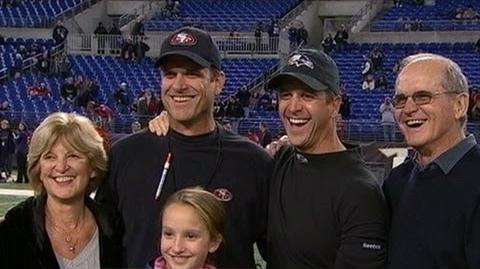 Super Bowl 2013 Baltimore Ravens Vs San Francisco 49ers Harbaugh Brothers' Sibling Rivalry