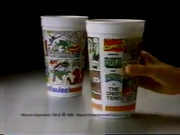 1980's Hardee's Restaurant Commercial Marvel Superhero Cup