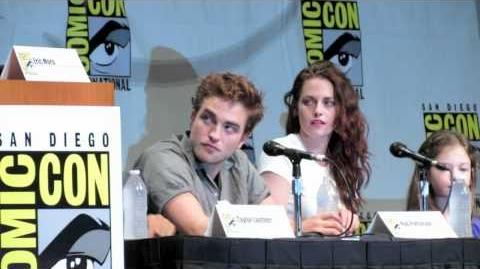 Final Twilight Comic-Con Kristen Stewart, Rob Pattinson