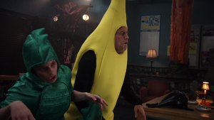 T-Rex and the banana zombies