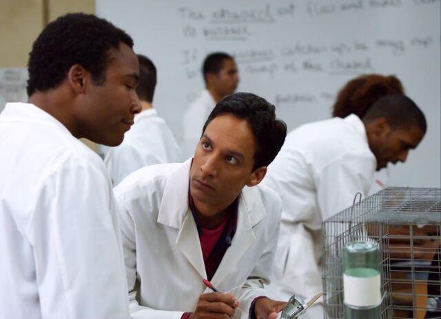 File:1x10 Abed taking notes .jpg
