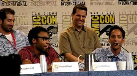 "Donald Glover & Danny Pudi sing ""Somewhere Out There"" at Comic Con 2010"