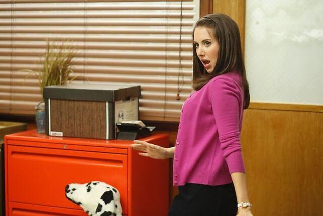 File:4X1 Promo pic Annie as the Dean.jpg