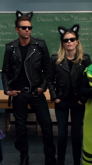 Jeff and Britta as Cool Cats