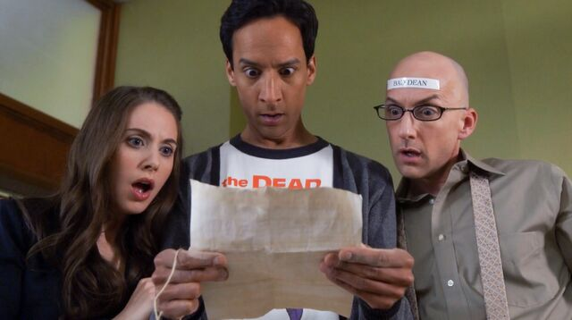 5x12 Annie, Abed and Dean Pelton