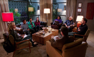 CA The group attends Abed's therapy session for moral support