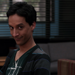 ...<b>Abed</b> wiggling his eyebrows at him suggestively.