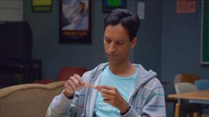 Abed tries to fix the pencil
