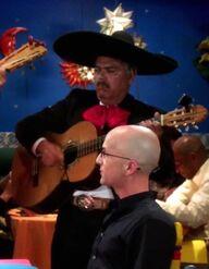 Señor Kevin's Mariachi guitarist