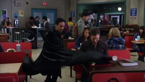 2X22 Abed's cape trick