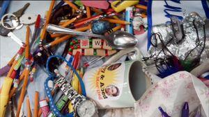 Items stolen by Annie's boobs