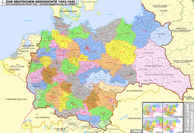 Nazi Germany administrative divisions-1944