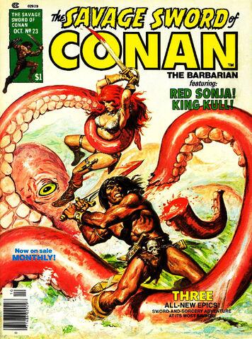 File:-23 octubre 1977 . Torrent of Doom. Guión de Roy Thomas, lápices de John Buscema, tintas de Alfredo Alcalá..jpg