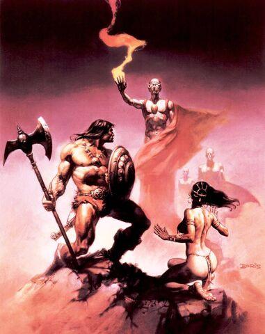File:-9 febrero 1976. The Curse of the Cat-Diosa. Guión de Roy Thomas, el arte de Pablo Marcos..jpg