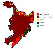 Manchu language map