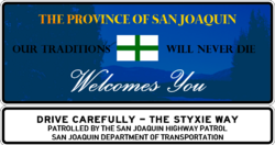 San Joaquin Welcome Sign