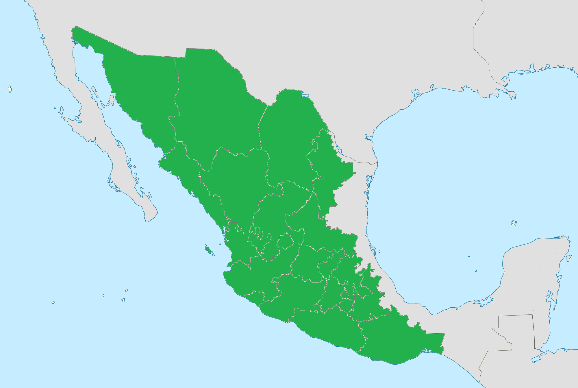 Map Of Mexico You Can See A Map Of Many Places On The List On - Blank map of the united states wikipedia