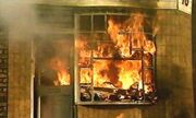 Corner shop burns