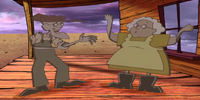 Paper Muriel and Eustace