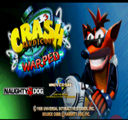 Crash Warped Demo Screen