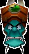 Crash Bandicoot 3 Warped Doctor Nefarious Tropy Head in Vortex