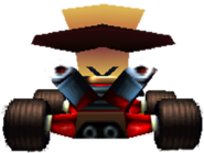 CTR N. Cortex In-Kart (Back)