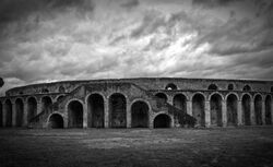 16803761-ancient-arena-in-pompeii-italy-black-and-white