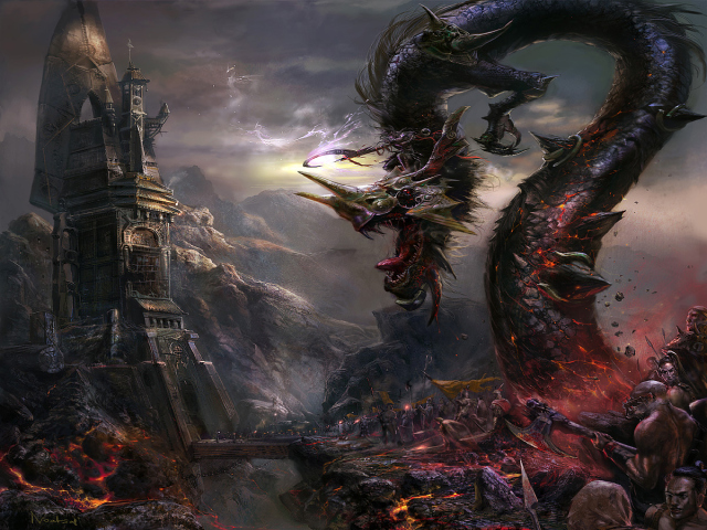 File:640x480 3068 Xuan Yuan 2d fantasy dragon army battle picture image digital art.jpg