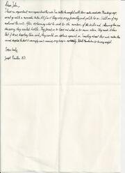 Joseph Franklin's final letter