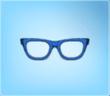 Blue Nerd Glasses