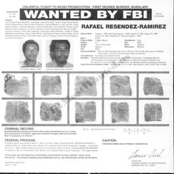 Resendiz's FBI wanted poster