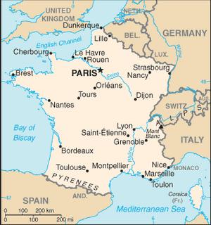 France-CIA WFB Map