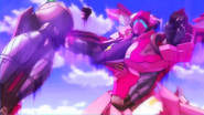 Cross Ange 07 Razor losing an arm