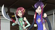 Cross Ange ep 15 Naga and Kaname angry